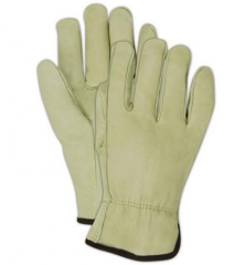 Cow Grain Leather Driver Gloves / Pair