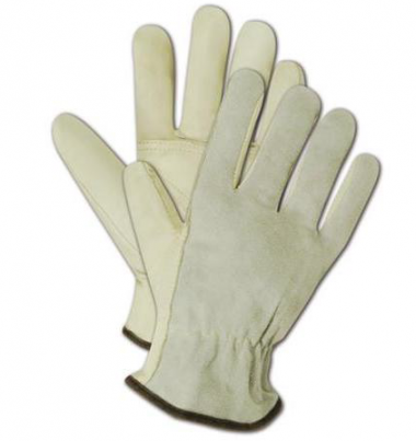 Welding/Driver All Leather Gloves with Palm Patch / Pair 1
