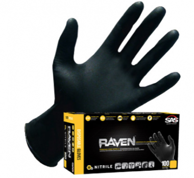 6 MIL Raven Nitrile Gloves / Box of 100 1